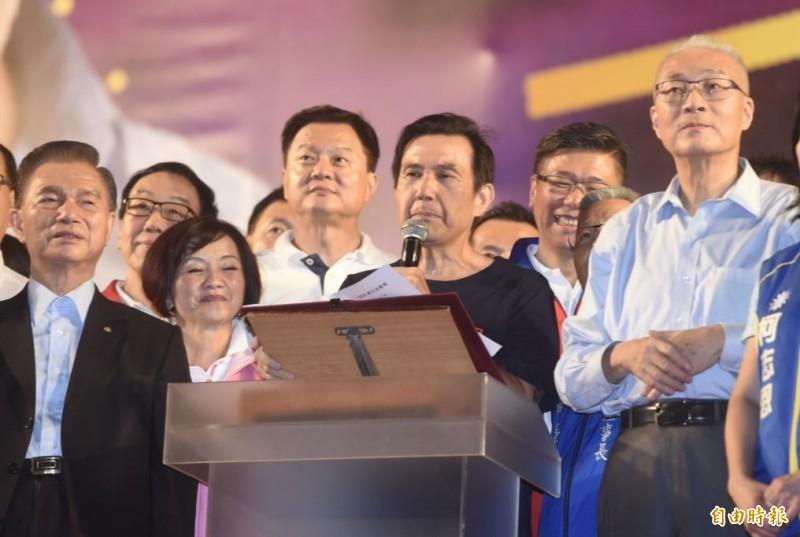馬英九因韓粉鼓譟,被迫中斷演講下台,此狀況引起眾多批評,經常講評韓國瑜的資深媒體人黃創夏,也在臉書上對此事進行評論,並恭喜「朱立倫和候友宜」解脫了。(資料照)