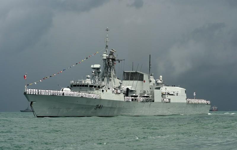加拿大海軍哈利法克斯級巡防艦渥太華號。(法新社)
