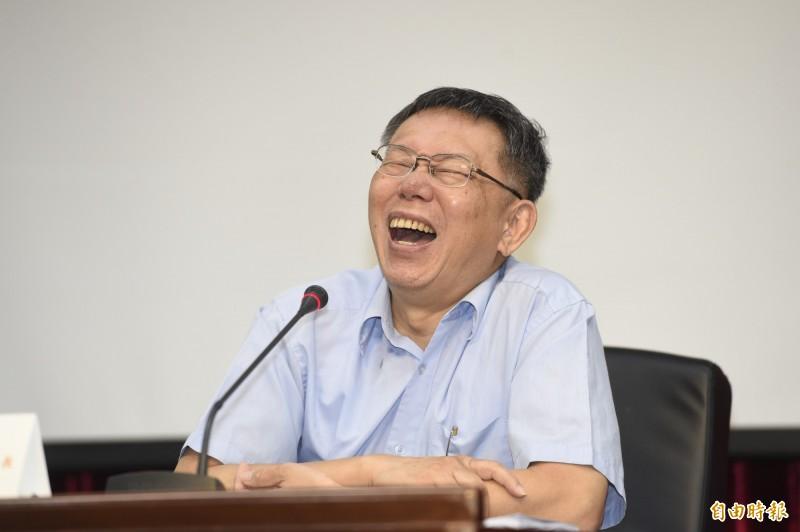 首長施政滿意度調查,柯文哲慘跌為倒數第3名。(記者叢昌瑾攝)