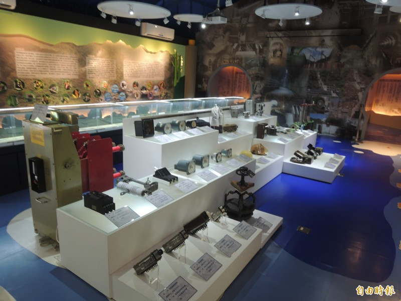 台電東部發電廠在花蓮銅門電廠外設有木瓜溪文物生態故事館。(記者王錦義攝)