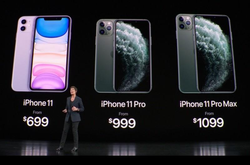 蘋果在台灣時間今天凌晨1點發表iPhone 11系列。(翻攝官網直播畫面)