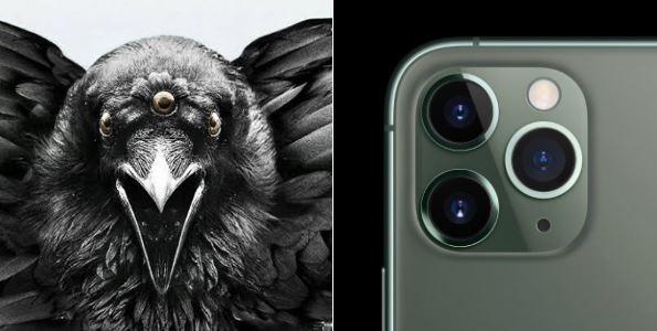 有網友認為搭載三鏡頭,極像《權力遊戲》中的三眼烏鴉。(圖擷自collins kibisu推特)