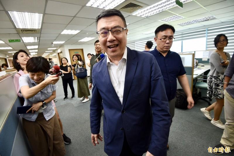 民進黨主席卓榮泰表示,無法對郭台銘動向做預測,因此要等底定後才來確定下階段整個選戰策略。(記者羅沛德攝)