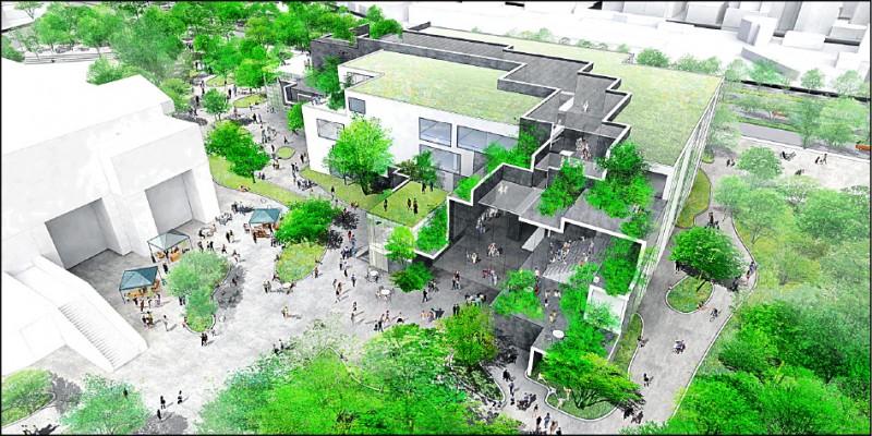 新竹市圖書館新總館,將打造引入風與光影的「知識峽谷」。圖為示意圖。(記者洪美秀翻攝)