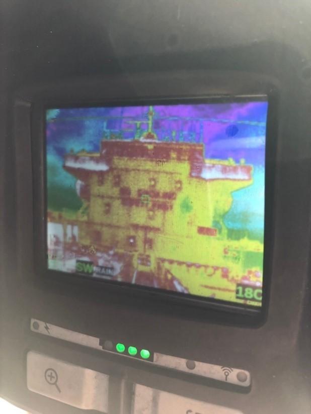 熱顯像儀拍攝的北斗星號(記者楊政郡翻攝)