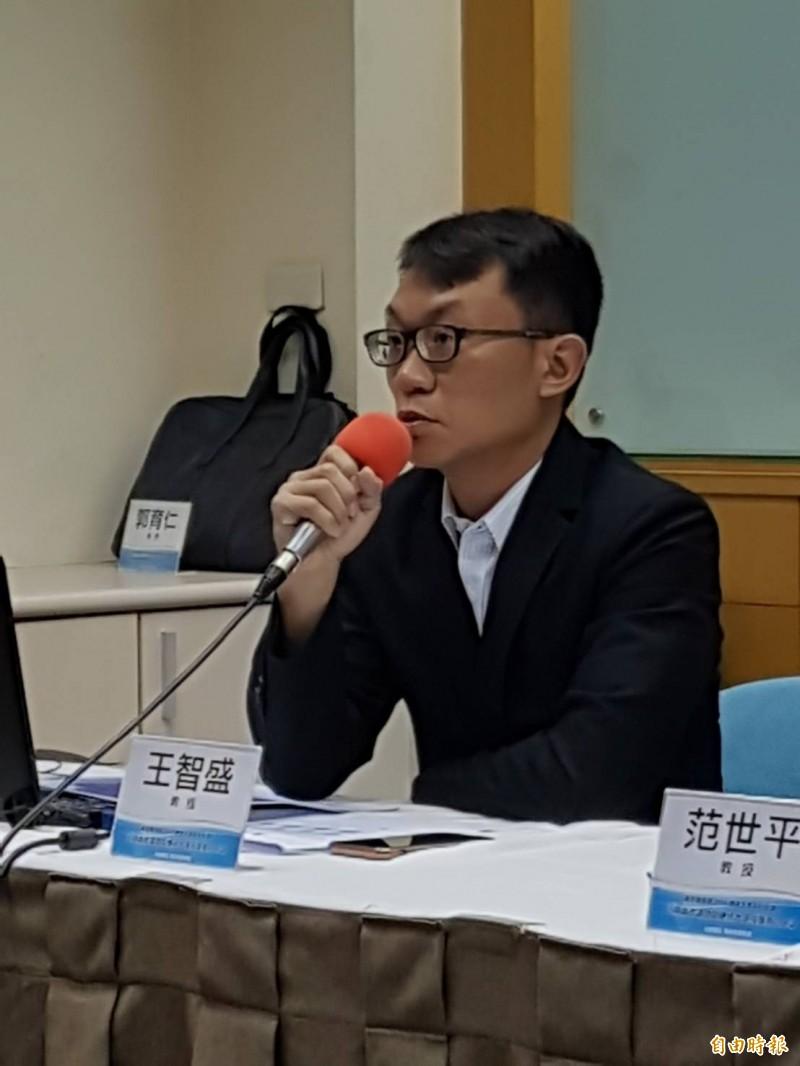 兩岸政策協會記者會王智盛。(記者謝君臨攝)