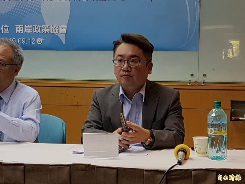 兩岸政策協會副秘書長張宇韶。(記者謝君臨攝)