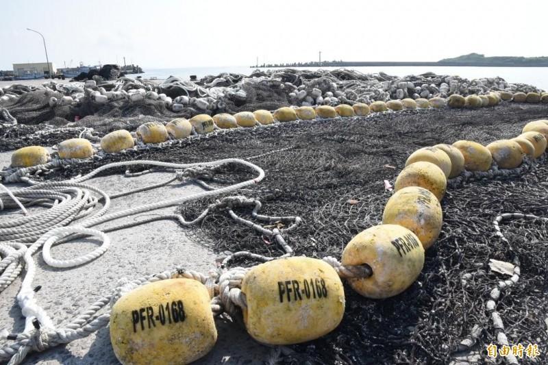 網具實名制後,可減少海底覆網的產生。(記者劉禹慶攝)