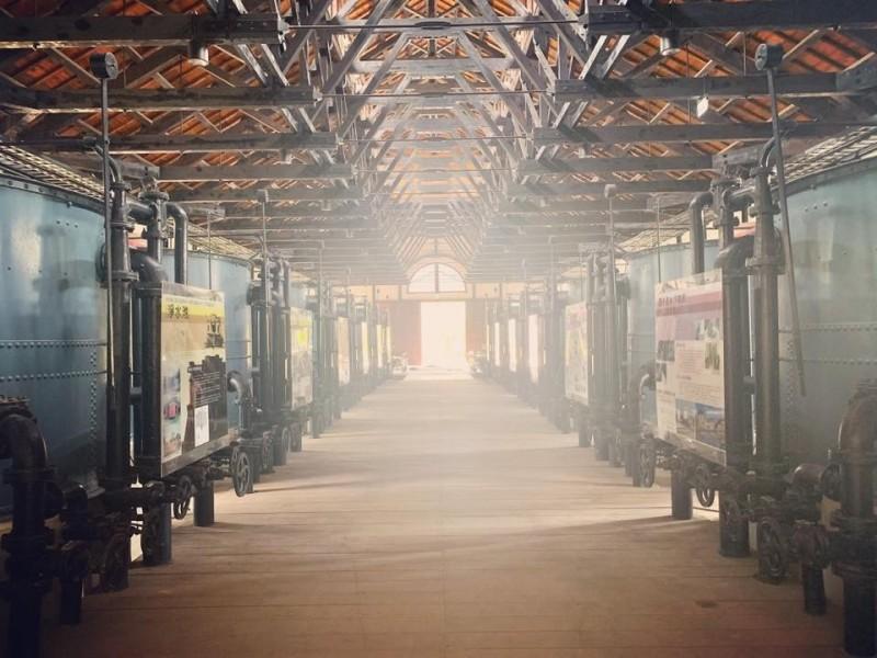 台南山上花園水道博物館內部景象。(取自李孟諺臉書)