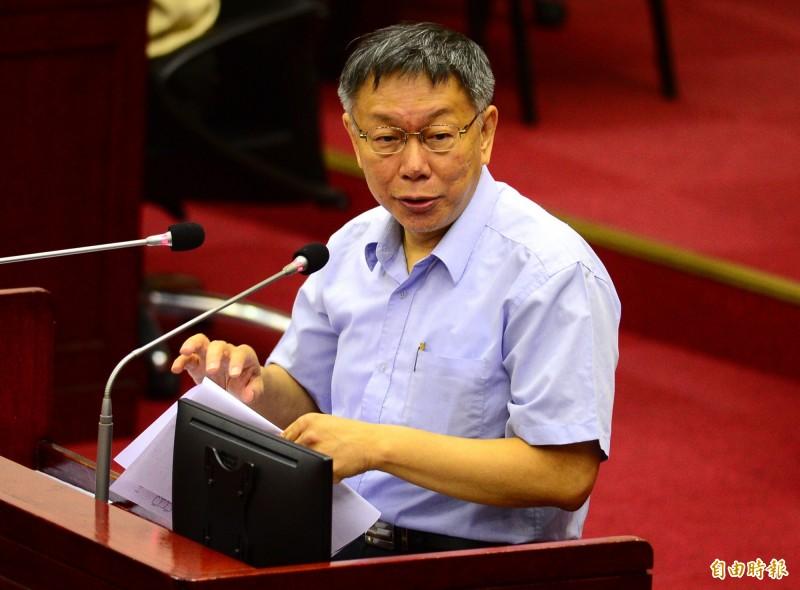 松田康博最近接受媒體訪問,談到台灣如何在美國和中國之間取得平衡,批評台北市長柯文哲的「美中台等邊三角形」平衡論述,認為如果這麼說,美國人會很生氣。(資料照)