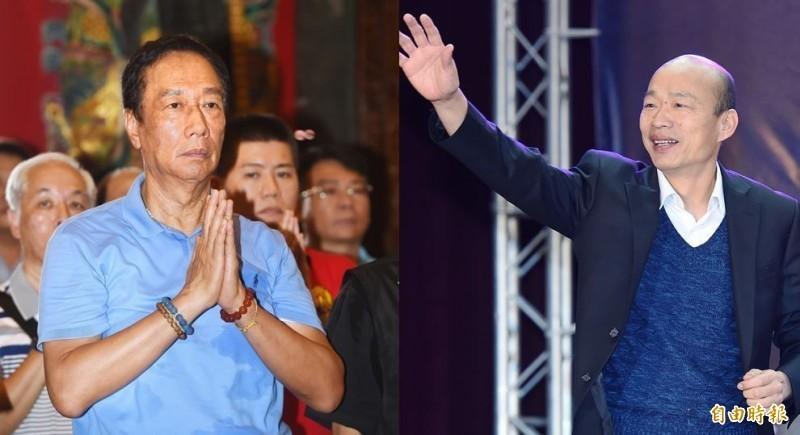 國民黨大老們在連署聲明中表示,2020大選是決定中華民國命運、台灣前途以及人民未來的關鍵選舉,他們呼籲韓國瑜與郭台銘「合而為一」,以「四步」的誠意謀求真心的合作。(資料照,本報合成)
