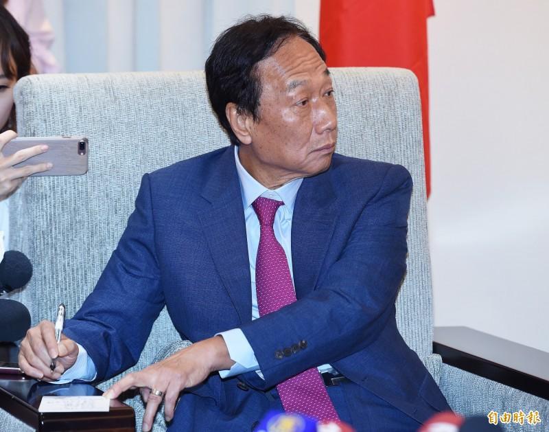 鴻海創辦人郭台銘宣布退黨。(資料照)