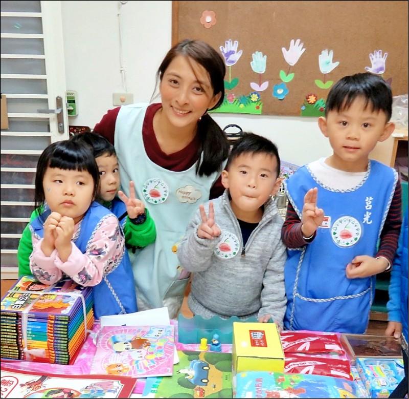 林京頴昨天獲幼兒園教保服務績優教師獎。(林京頴提供)