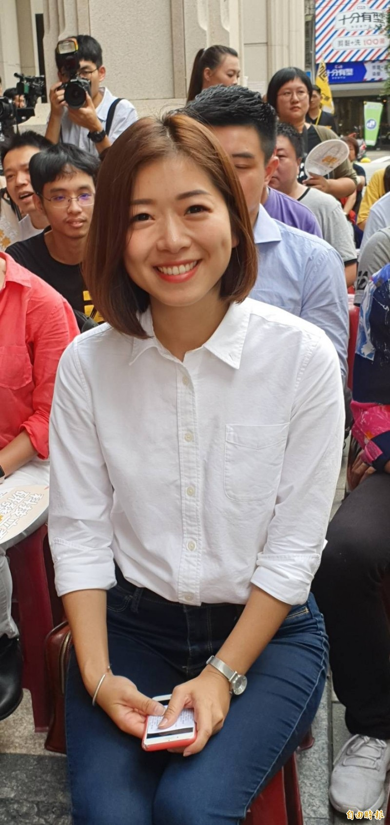 時力竹市立委參選人高鈺婷競選辦公室開幕。(記者蔡彰盛攝)