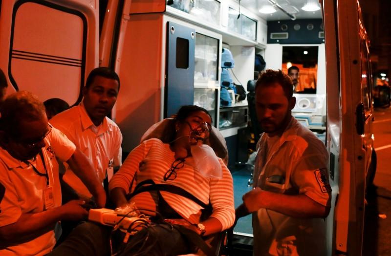 病患被轉送到其他醫院。(路透)