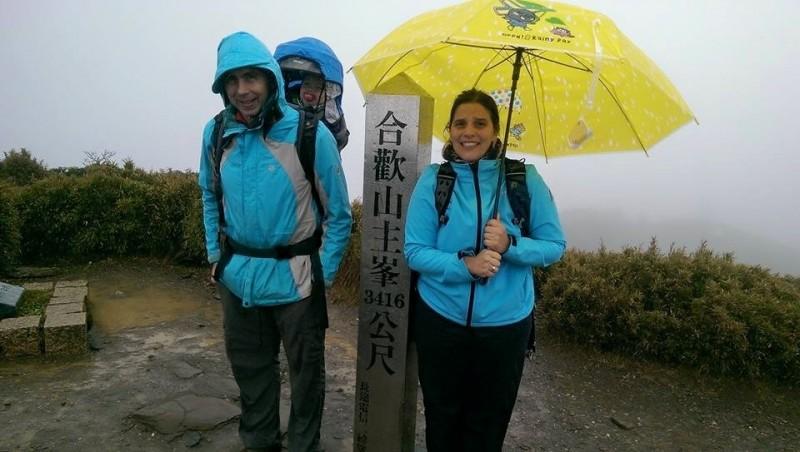 馬培德熱愛爬山,喜歡台灣的高山,常一家3人爬山。(馬培德提供)