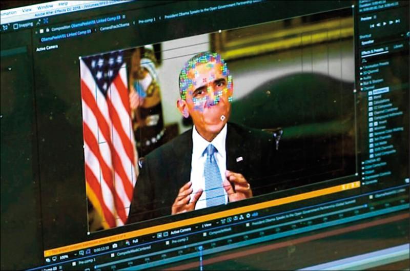 去年美國出現一段前總統歐巴馬辱罵現任總統川普「是個笨蛋」的挑釁影片,就是被AI換臉技術製做成的假新聞。(美聯社檔案照)
