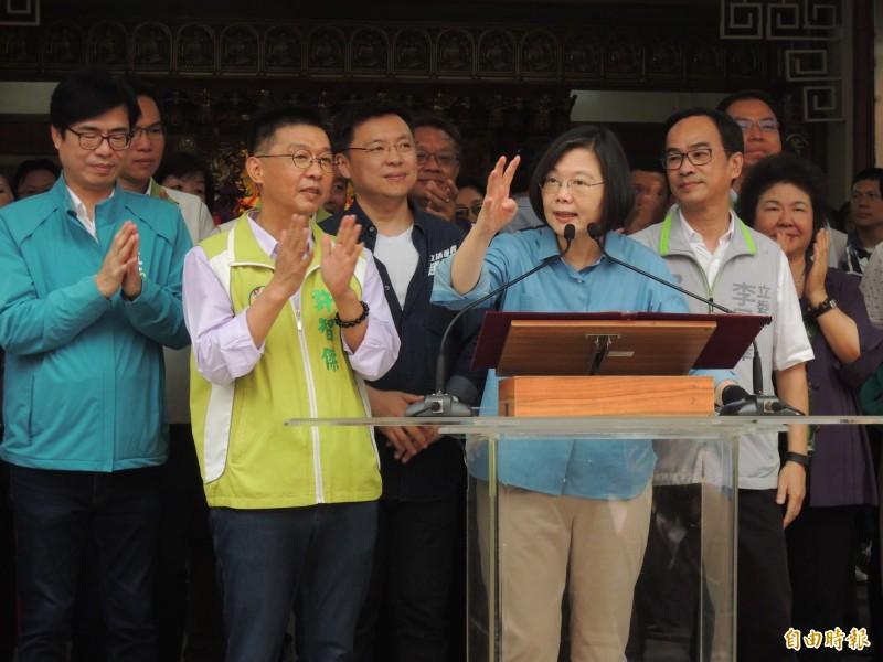 民進黨母雞出擊 蔡英文:再給4年、台灣一定脫胎換骨