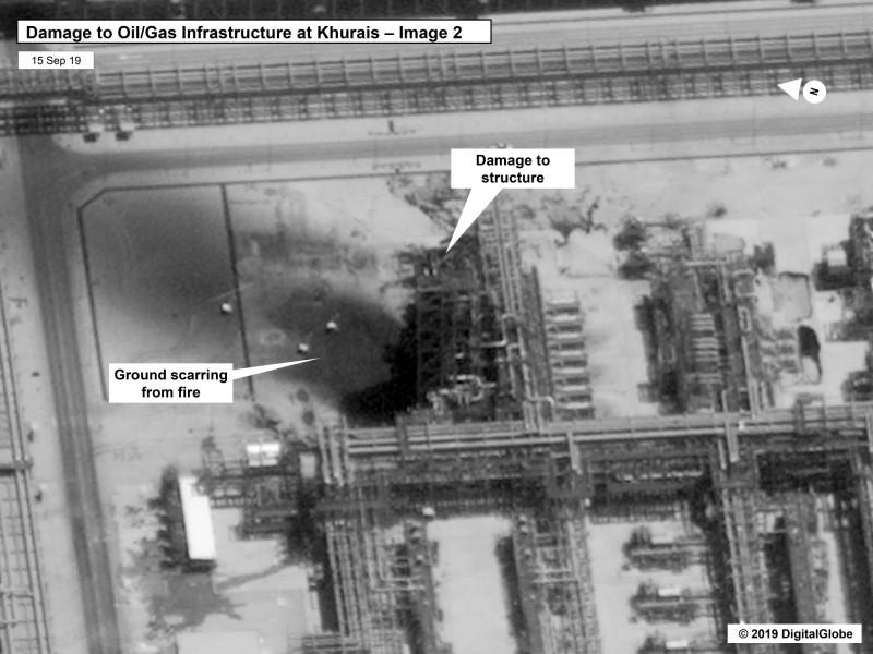 胡賴斯地區的重要石油設施遭毀。(美聯社)