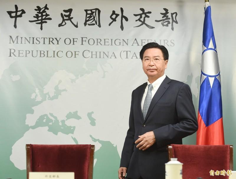 外交部長吳釗燮(見圖)今晚6點30分召開記者會,宣布與索羅門群島斷交。(記者朱沛雄攝)