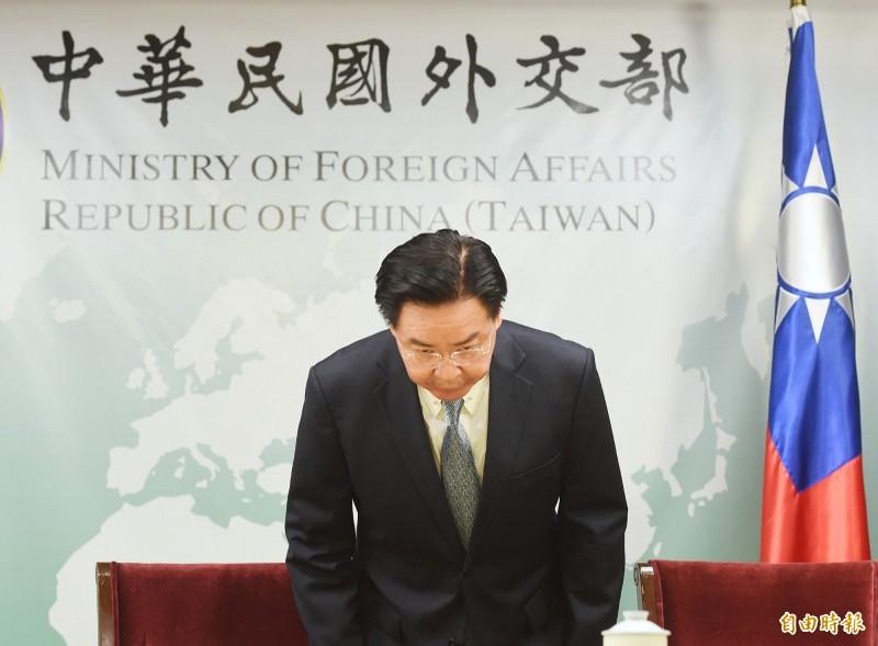 外交部長吳釗燮。(記者朱沛雄攝)