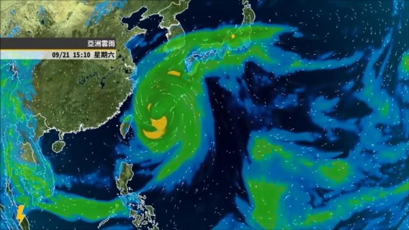 未來一週因季風低壓環流的東北風影響,水氣偏多,北台灣也將逐漸轉涼,不過目前還不算真正入秋。(圖擷自氣象達人彭啟明臉書)