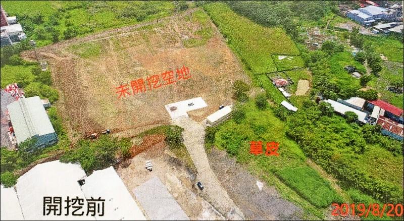 8月20日欣興電子楊梅新廠房空拍圖,尚未動工。 (記者陳恩惠翻攝)