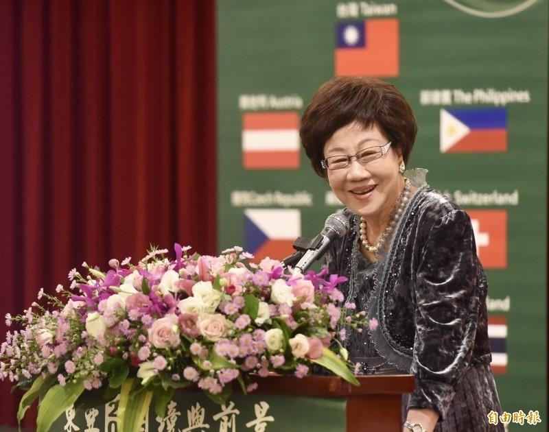 前副總統呂秀蓮今日宣布將代表喜樂島聯盟競選2020總統。(資料照)