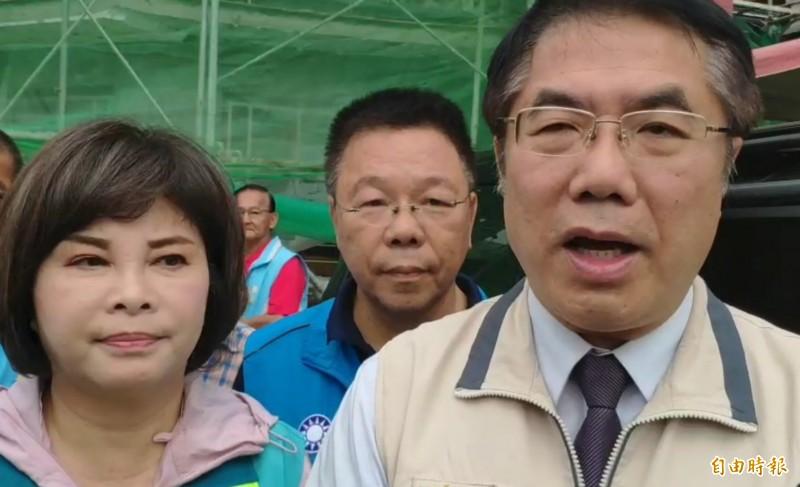 台南市長黃偉哲表示,對呂秀蓮參選表示尊重與祝福,而呂是民主前輩,過去為台灣犧牲奉獻,希望她不要離開民主改革陣營。(記者王涵平攝)