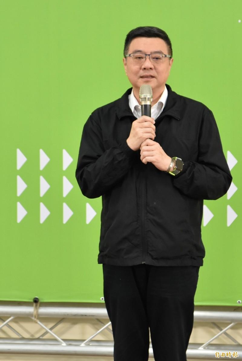 民進黨主席卓榮泰今天出席雲林地方座談,強調下屆總統大選及立法委員選舉全盤考量在穩定中繼續開拓應該有的票源。(記者黃淑莉攝)