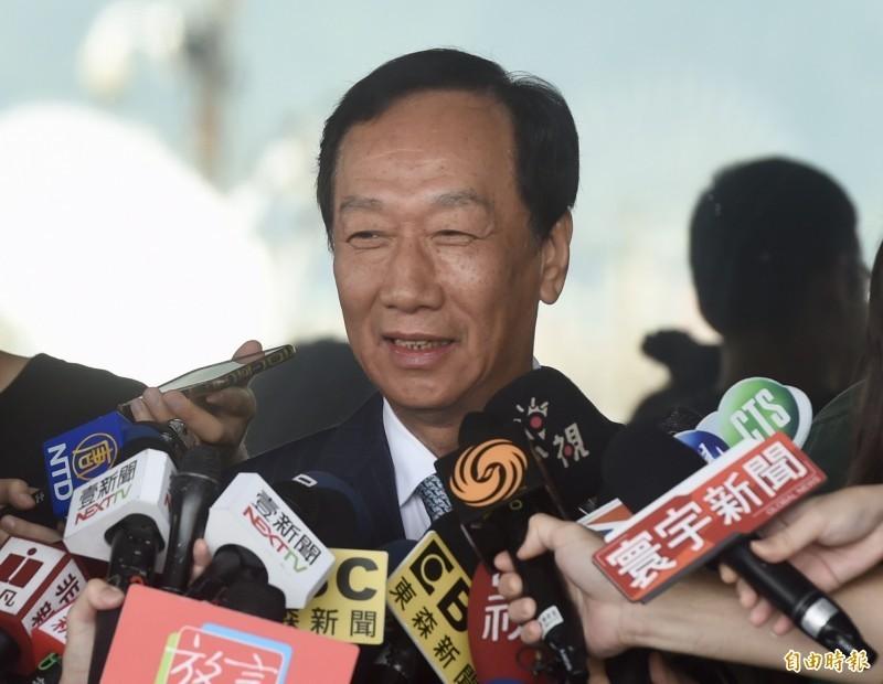 鴻海創辦人郭台銘在16日晚間11時許發出聲明,表示「我決定不參與2020連署競選總統。中華民國需要郭台銘的時候,郭台銘永遠都在。」(資料照)