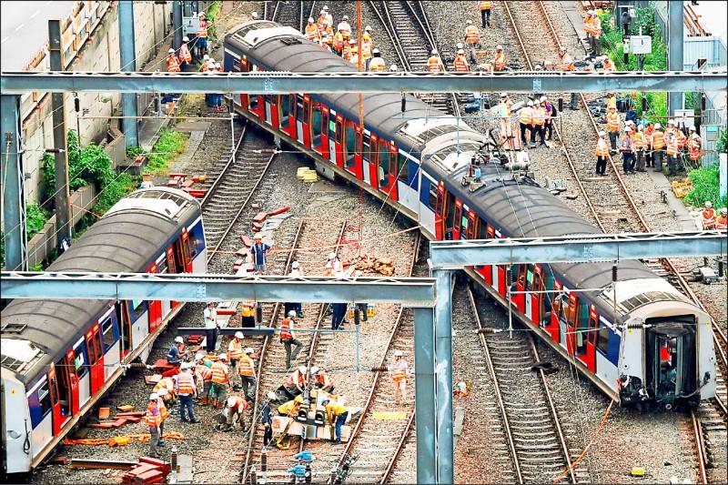 港鐵出軌8傷 陰謀論滿天飛
