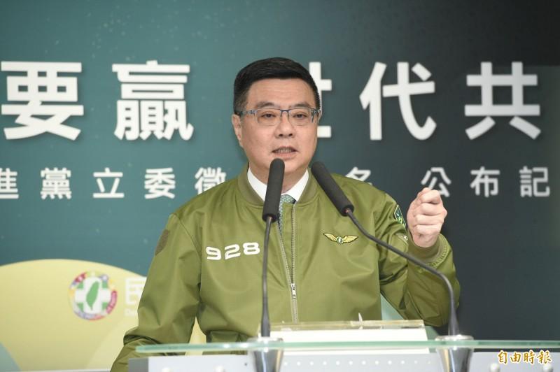 民進黨主席卓榮泰今天上午拜訪呂秀蓮,他向呂秀蓮表達,要在45天要連署28萬多人是相當大的工程,不希望這樣的連署會被任何的政黨負面操弄。(記者叢昌瑾攝)