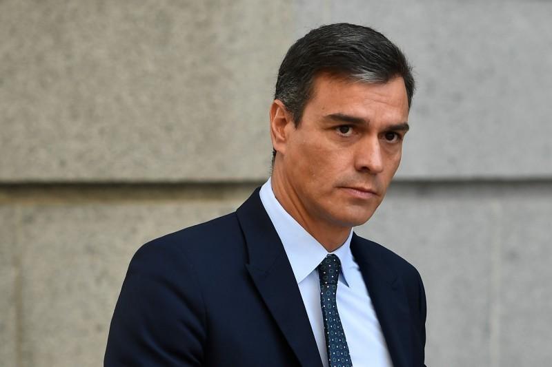 由於未能取得其他政黨支持籌組聯合政府後,西班牙看守總理桑切斯表示,西班牙西班牙將在11月舉辦國會大選,也是4年內的第4次、今年的第2次國會大選。(法新社)