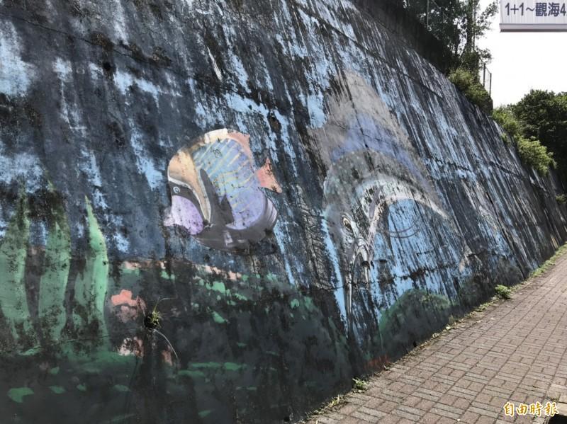 擋土牆彩繪不再補助 林右昌嫌:沒美感、破壞景觀、浪費