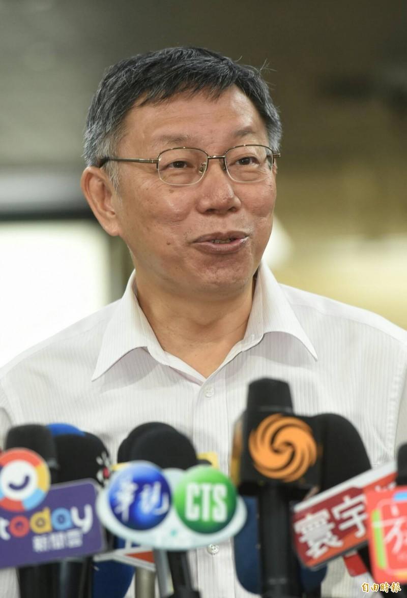 台北市長柯文哲。(記者劉信德攝)