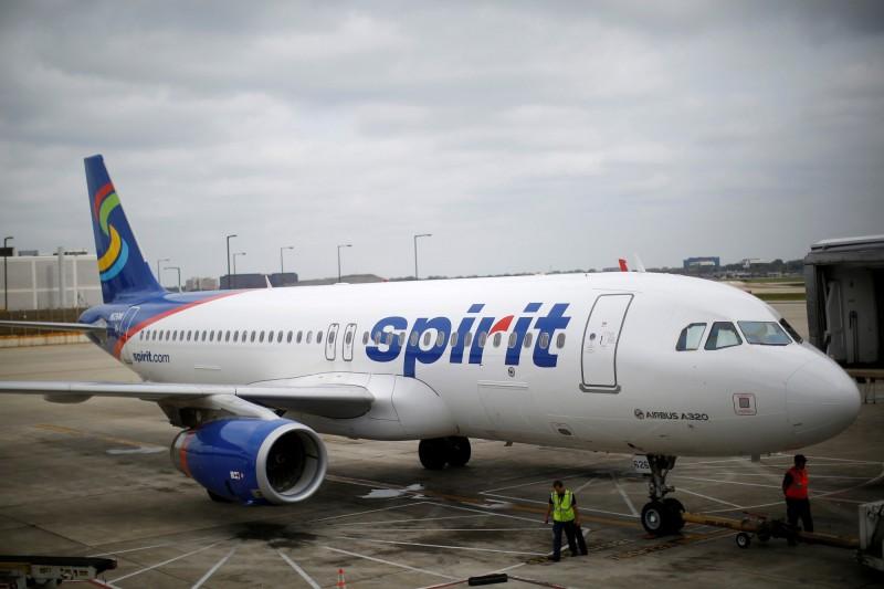 一項研究調查了全美各大航空公司客機上的水質,並建議乘客最好別喝除了瓶裝水以外的東西。捷藍航空和精神航空在滿分5分當中只拿到1分敬陪末座。精神航空班機示意圖。(路透)
