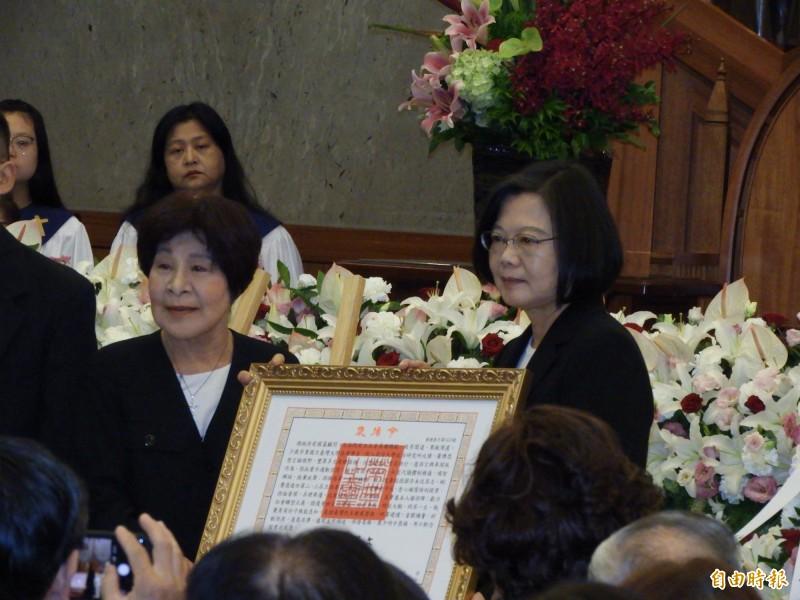 蔡總統出席謝聰敏告別式 頒褒揚令感念一生貢獻
