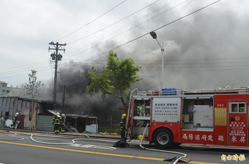 屏東市區火警 園藝場付之一炬