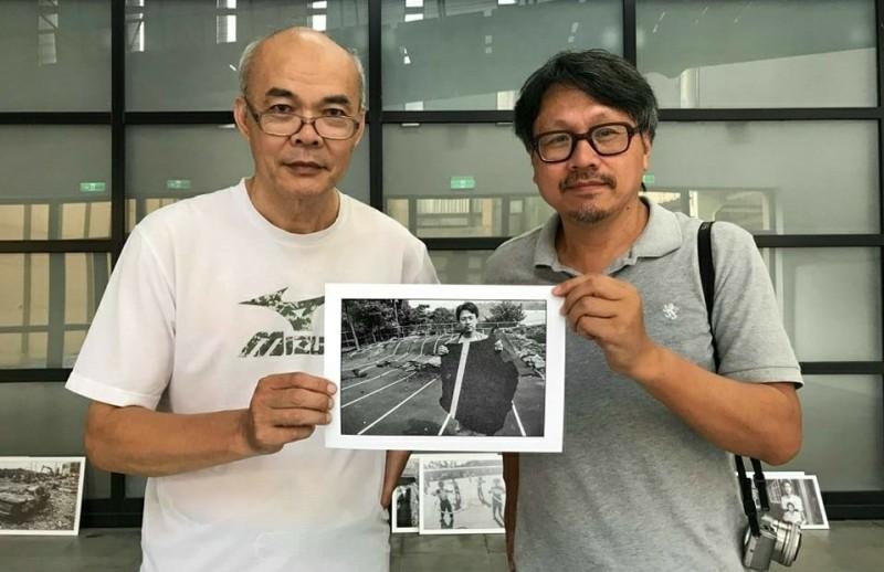 南藝大921回顧展影像創作者之一的許伯鑫(左)與曾吉賢(右)。(音像所提供)