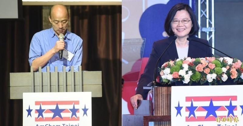 國民黨總統參選人韓國瑜民調下滑,即便鴻海創辦人郭台銘退選,但韓的民調仍未見起色。(資料照,本報合成圖)