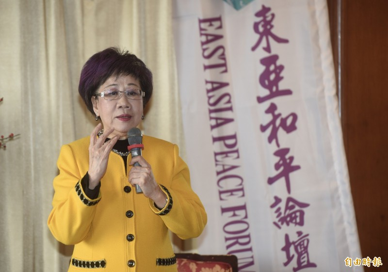 前副總統呂秀蓮宣布參選,傳「資深馬粉」頂霖集團總裁林健昌在背後支持。並傳聞呂秀蓮早在今年8月底東亞和平論壇就有意宣布參選。(資料照)