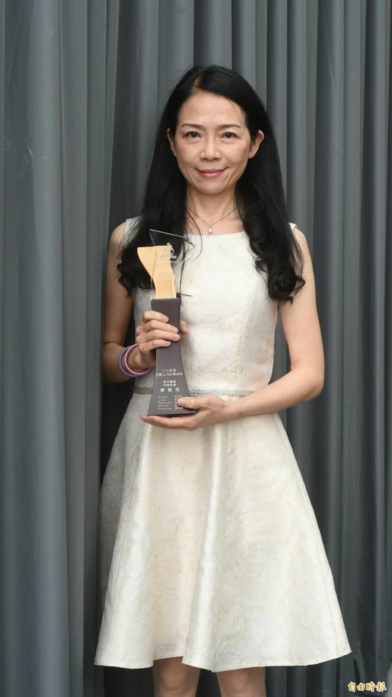 台東女高老師康毓庭贏得高中職組Super 教師獎。(記者劉信德攝)