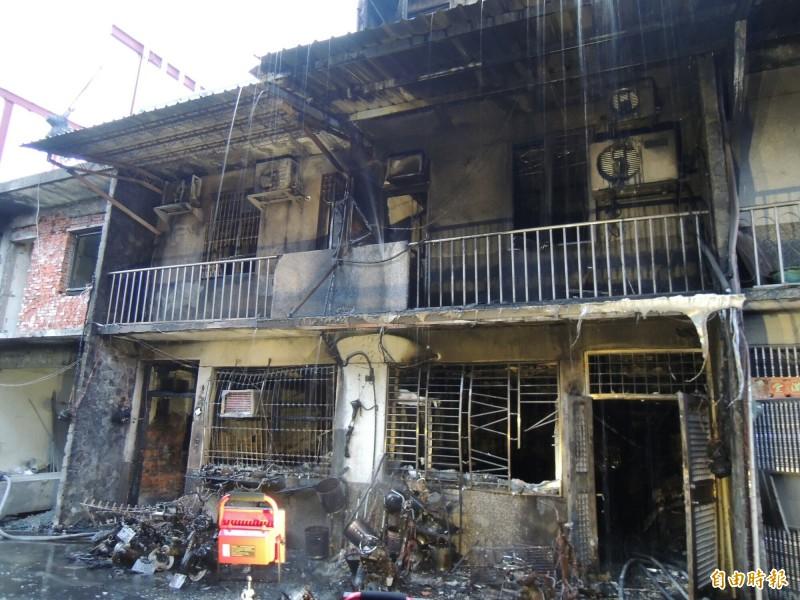 冬山鄉暗夜惡火造成2死5人輕重傷,圖為發生大火的民宅。(記者江志雄攝)