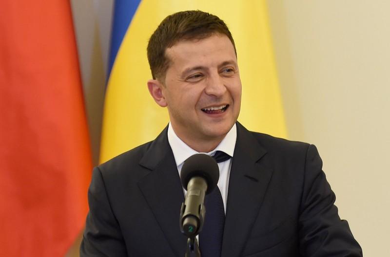 喜劇演員出身的烏克蘭總統澤倫斯基(Volodymyr Zelensky)。(法新社)