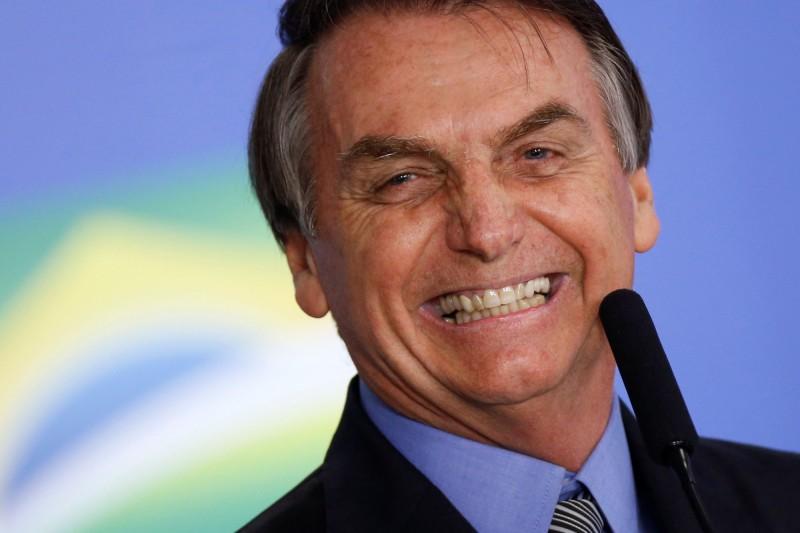 有「熱帶川普」之稱的巴西總統波索納羅(Jair Bolsonaro)。(路透)
