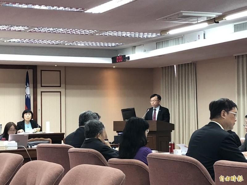 NCC代理主任委員陳耀祥表示,5G專網專頻仍在研議中。(記者羅綺攝)