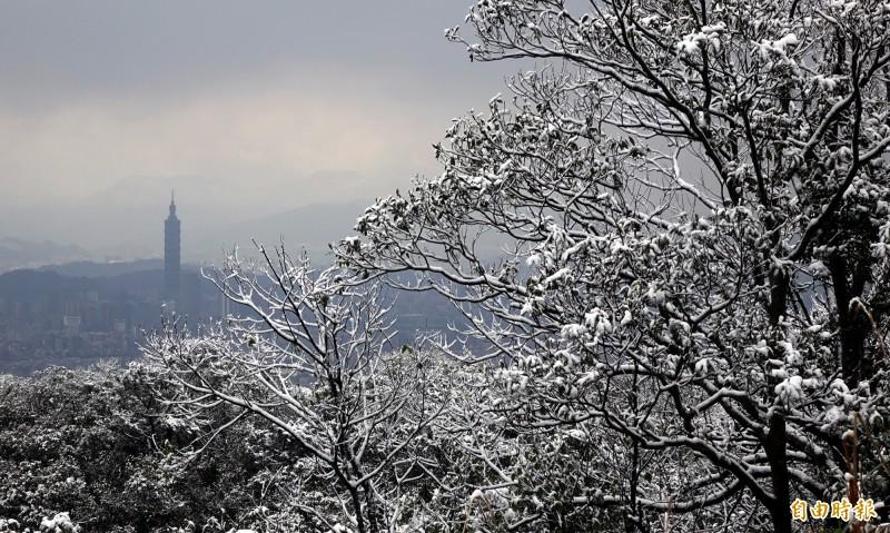 2016年寒流過境,北市景觀。(資料照)