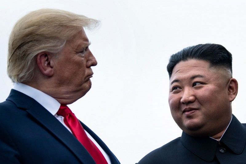 對於北韓無核化議題,川普在聯合國大會上做出回應,表示與金正恩的會談「可能很快就會發生」。(法新社)
