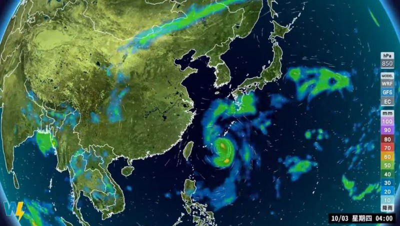 明天開始台灣附近水氣將再增加,迎風面降雨機率又會再提高,估計到下週一前,北部、東半部會是有雨的天氣。(圖擷自氣象主播 賴忠瑋臉書)